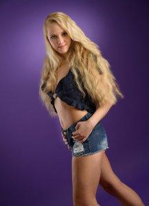 blondine fotostudio