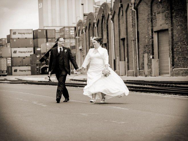 Hochzeitsfotos im Bremer Hafen