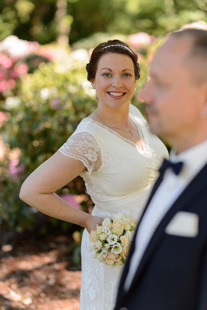 moderne Hochzeitsfotos mit Bokeh