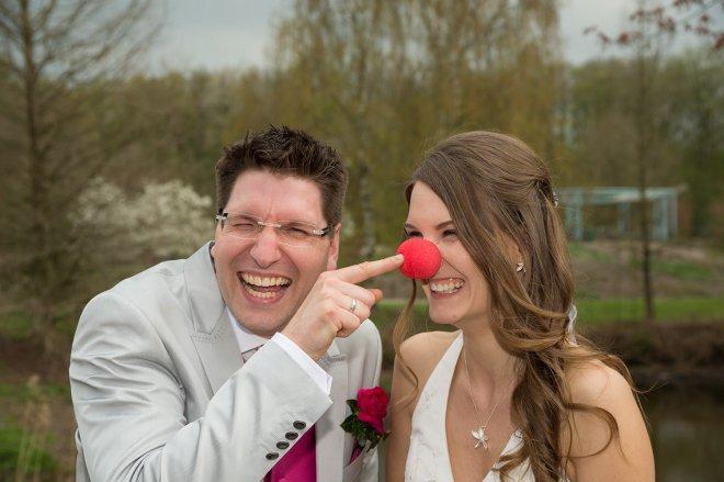 Hochzeitspaar am Rumalbern