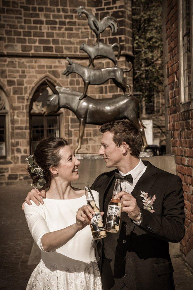 Corona Hochzeit Bremer Stadtmusikanten